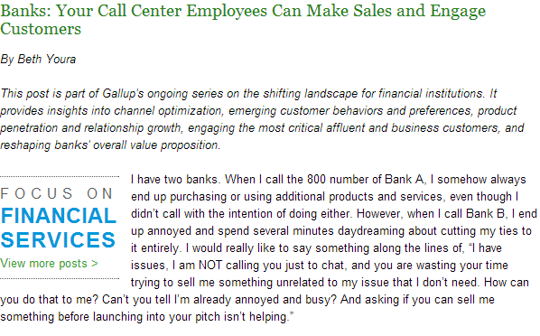 Banks-Your Call center Employees can Make Sales and Engage Customers